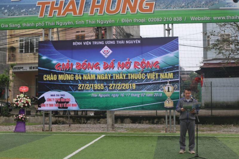 Giải bóng đá mở rộng chào mừng, kỷ niệm 64 năm ngày thầy thuốc Việt Nam 27/02