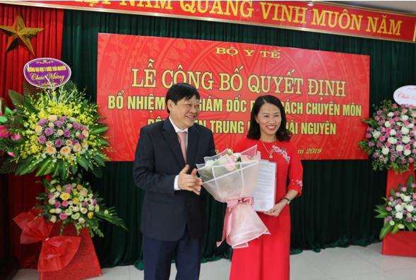 Lễ công bố Quyết định bổ nhiệm Phó Giám đốc phụ trách chuyên môn Bệnh viện Trung ương Thái Nguyên